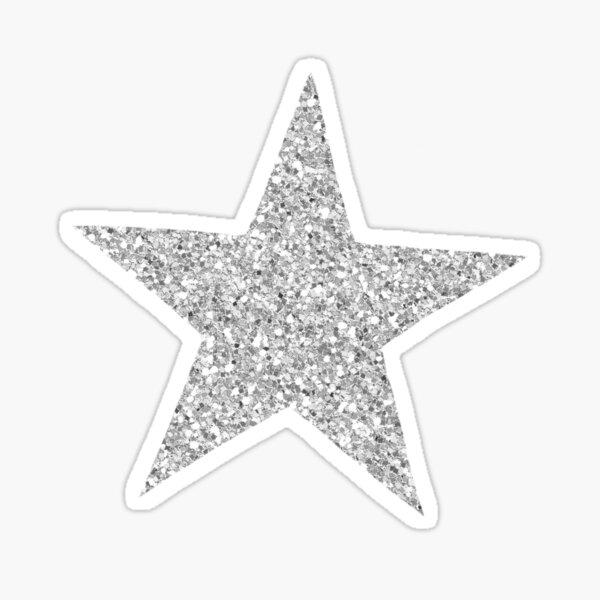 silver glitter star Sticker