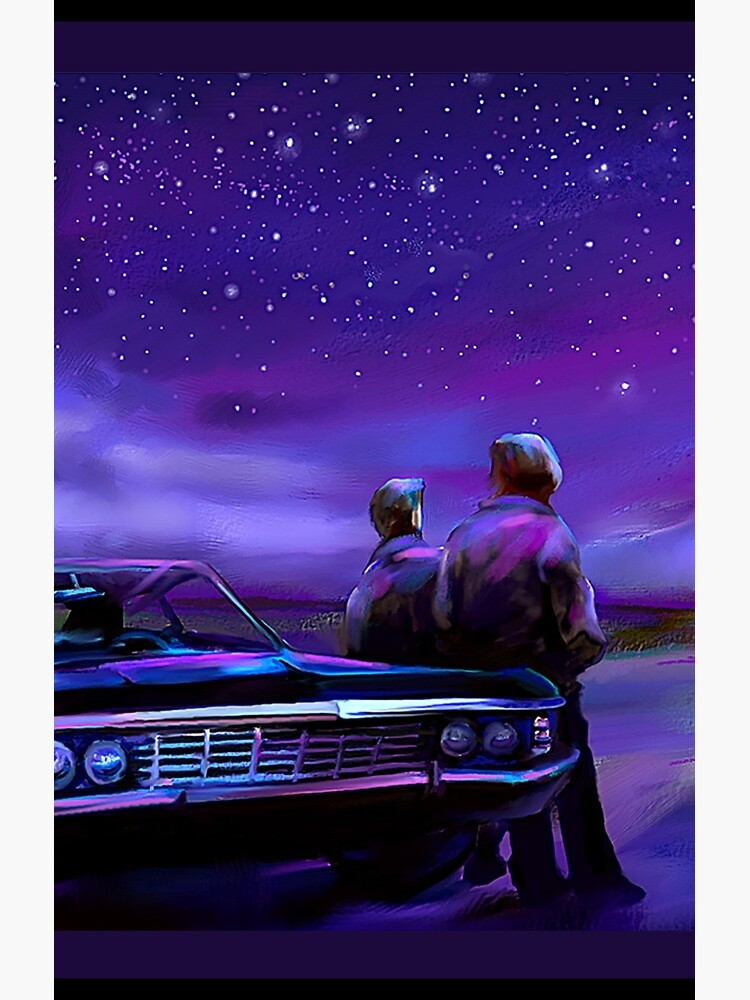 Impala Nights- Sam and Dean by artsydenise