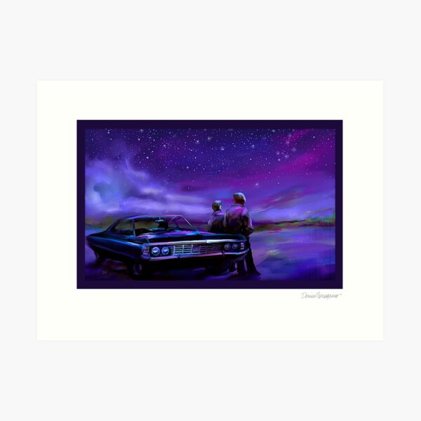 Impala Nights- Sam and Dean Art Print