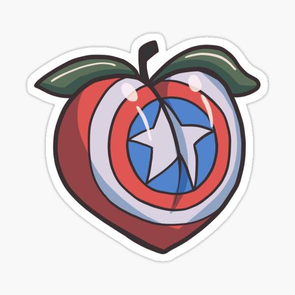 That's America's Peach Glossy Sticker