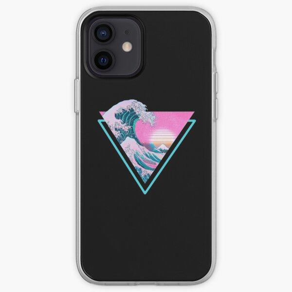 Vaporwave Aesthetic Great Wave Retro Triangle iPhone Soft Case