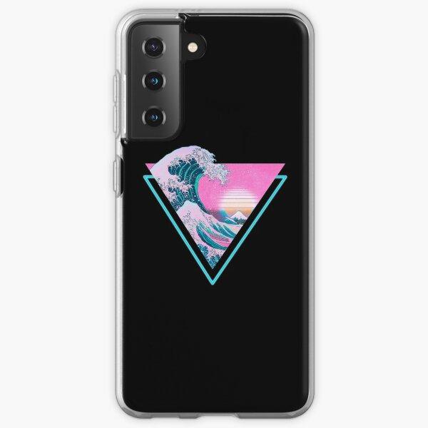 Vaporwave Aesthetic Great Wave Retro Triangle Samsung Galaxy Soft Case