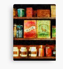 Spices on Shelf Canvas Print