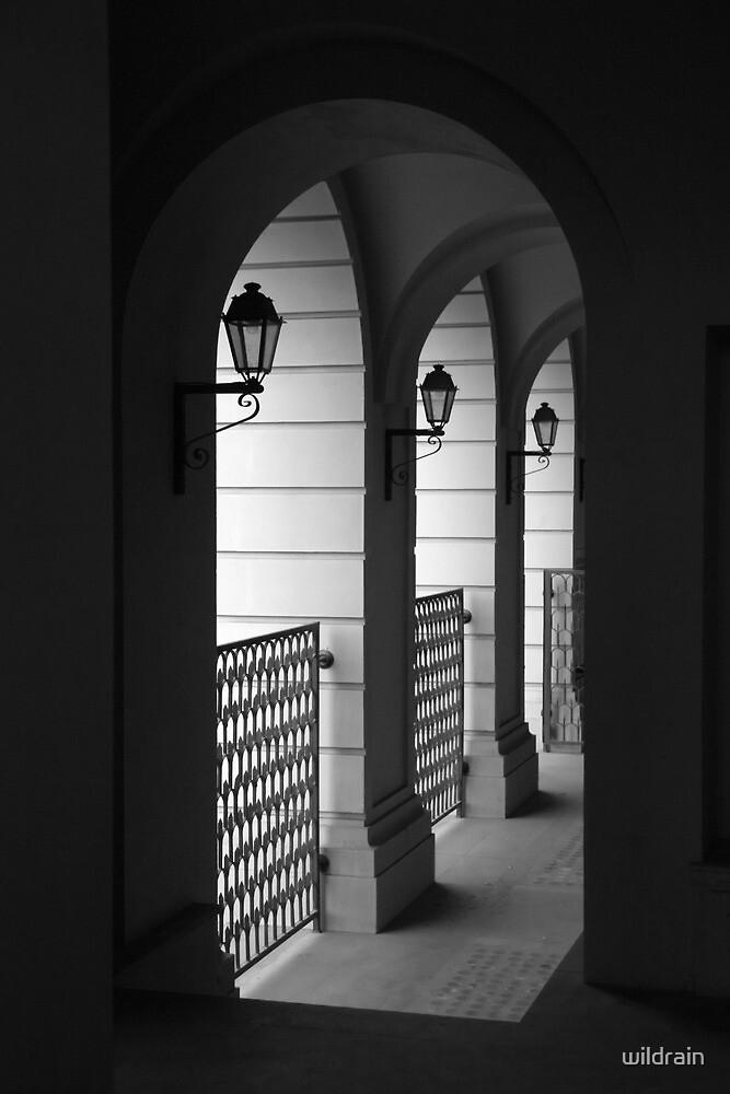 Architectural arch with vintage lanterns by wildrain