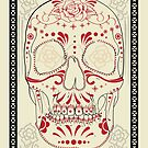 Crimson & Cream Calavera by Todd3point0