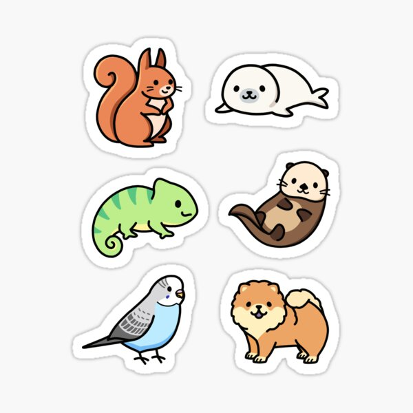 Cute Animal Sticker Pack 7 Sticker