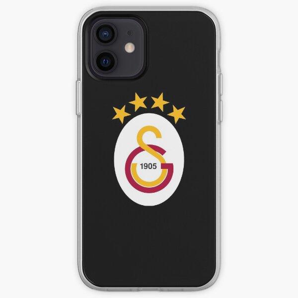 Logo Galatasaray étoiles jaunes Coque souple iPhone