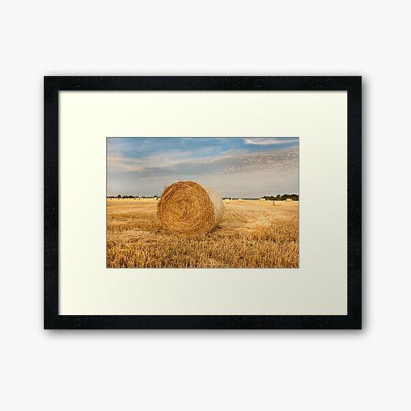 Norfolk Hay Bale Framed Art Print