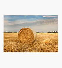 Norfolk Hay Bale Photographic Print