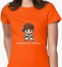 Martial Arts/Karate Boy - Bodyguard (gray font) Womens Fitted T-Shirt