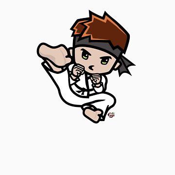Martial Arts/Karate Boy - Jumpkick by fujiapple