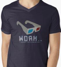 3D Glasses Men's V-Neck T-Shirt