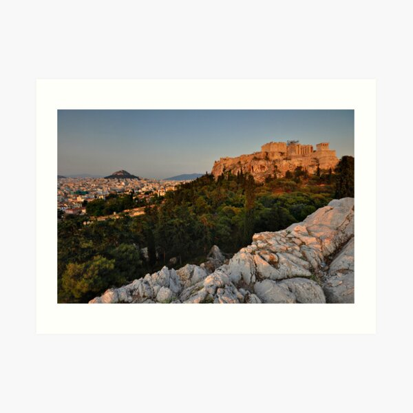 The Acropolis and Lycabettus Hill Art Print
