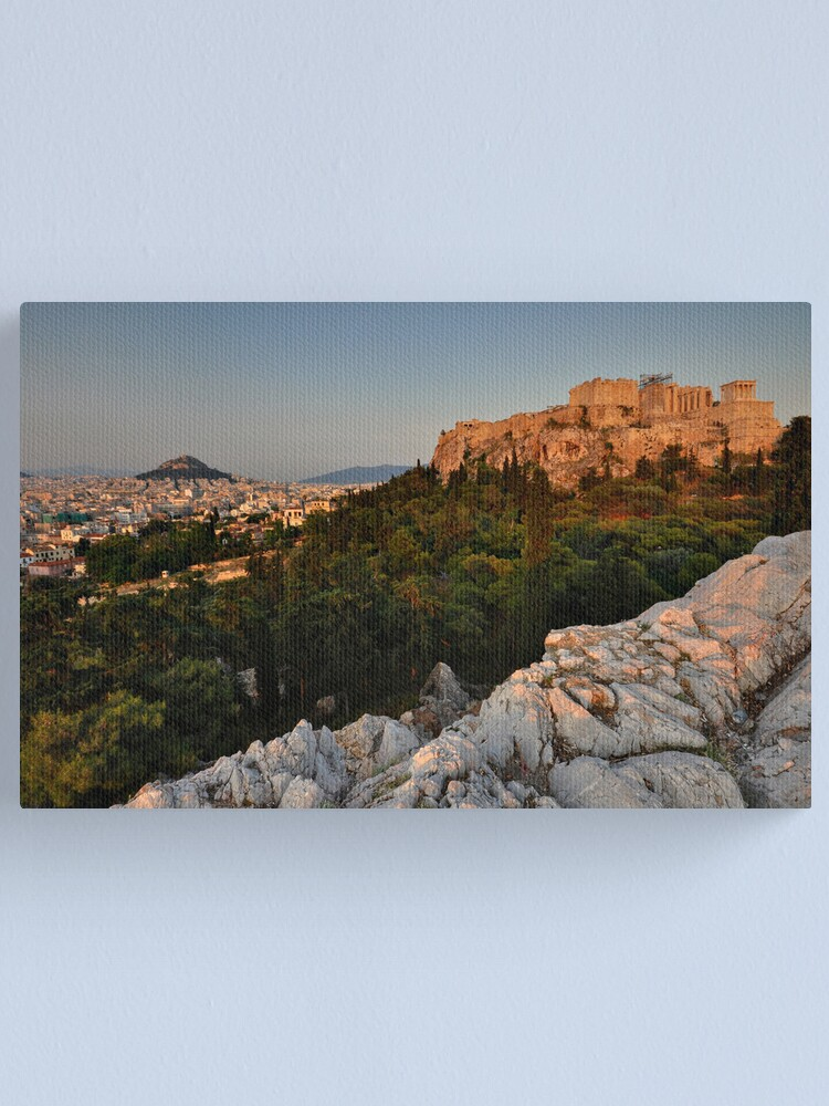 Alternate view of The Acropolis and Lycabettus Hill Canvas Print