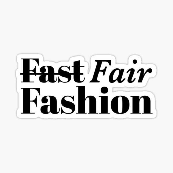Fair Fashion Sticker