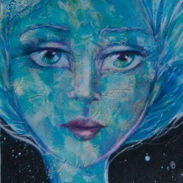 """Space nymph"" by KATRINAKOLTES"
