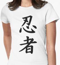 Ninja script in kanji Womens Fitted T-Shirt