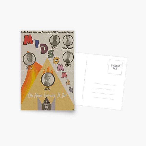 Cartel vintage de Midsommar Postal