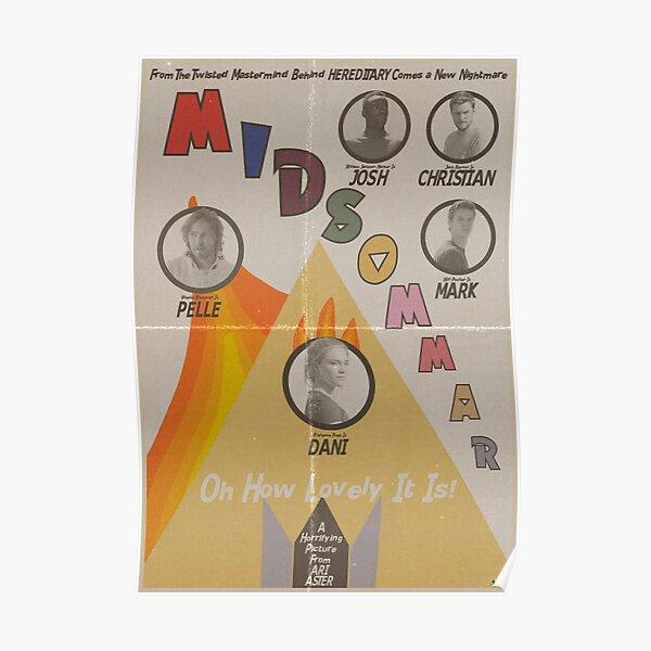 Midsommar Vintage Poster Poster