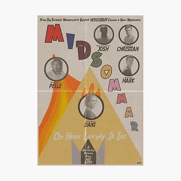 Midsommar Vintage Poster Photographic Print