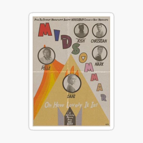 Midsommar Vintage Poster Sticker