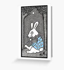 White Rabbit Fanfare Greeting Card