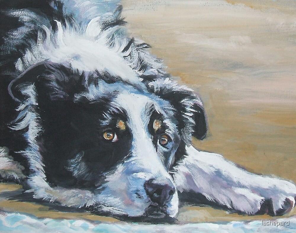Border Collie Fine Art Painting by lashepard
