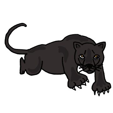 Awesome Leaping Panther Art Original by naturesfancy