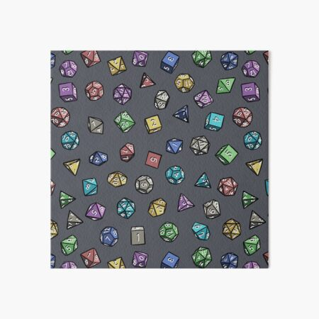 Dungeons and Dragons Dice Pattern Art Board Print