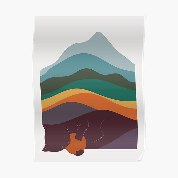 Cat Landscape 8 Poster