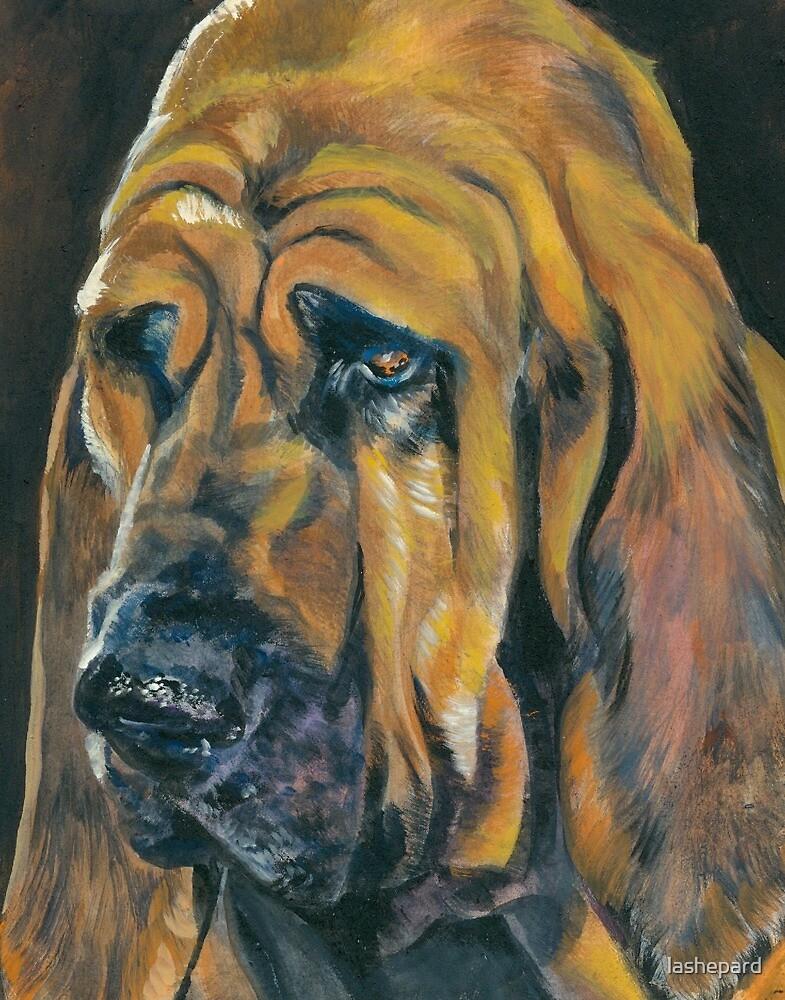 Bloodhound Fine Art Painting by lashepard