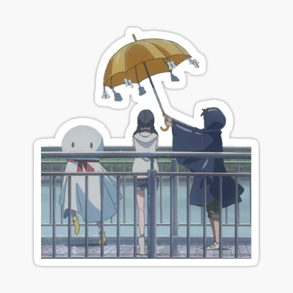 Weathering With You Rain Dance Sticker By Essentric Redbubble