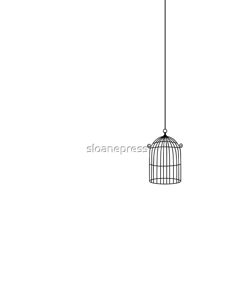 birdcage rubber stamping by sloanepress