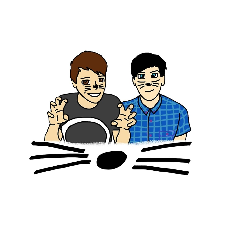 Dan and Phil Drawing by georgieisonfire