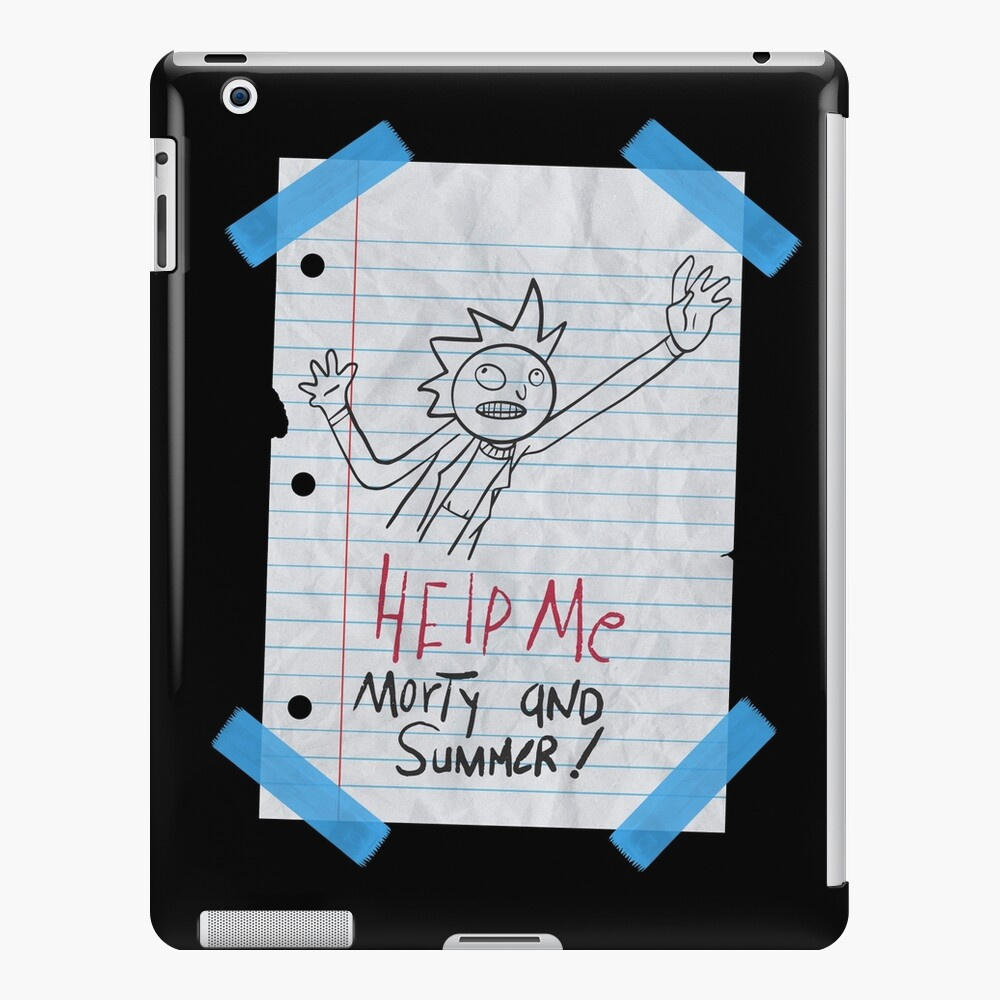 Rick And Morty Help Me Summer And Morty Paper Ipad Case Skin