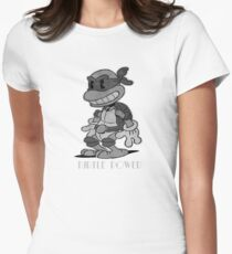 Turtle Power Womens Fitted T-Shirt
