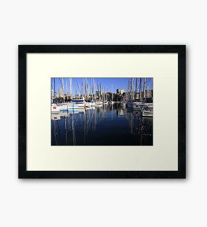 Sailing Yacht Symmetry Framed Print