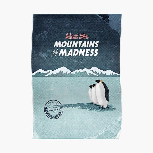 Visitez les montagnes de la folie Poster