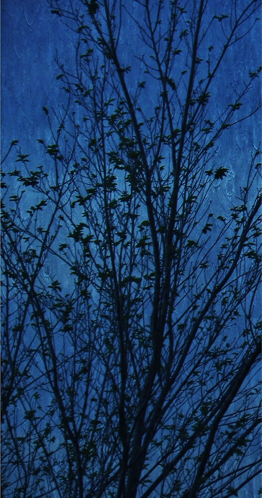 Fairy Tree in Blue by Annie Adkins