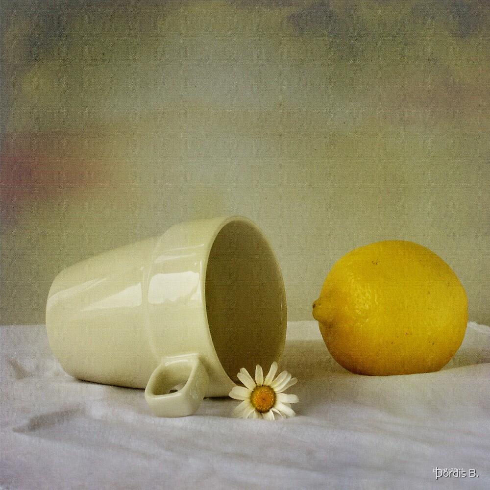 Still life with one flower by Þórdis B.