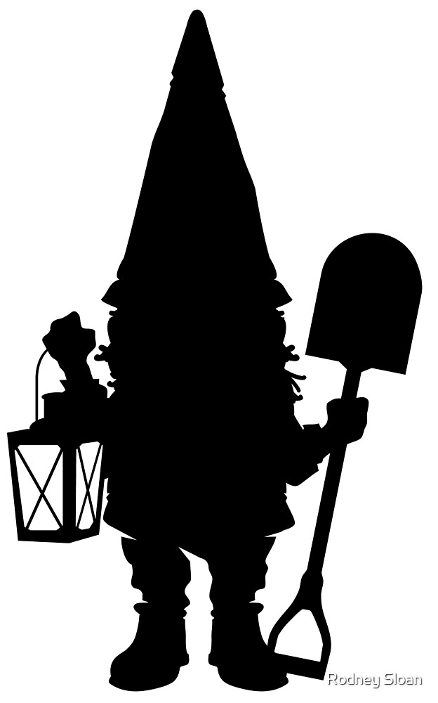 Gnome in Silhouette  by Rodney Sloan