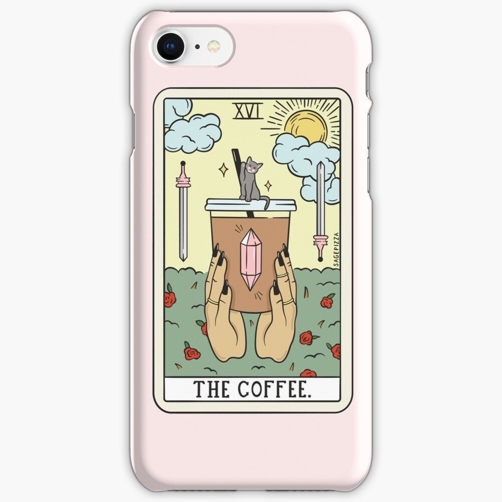 COFFEE READING (LIGHT) iPhone Case & Cover