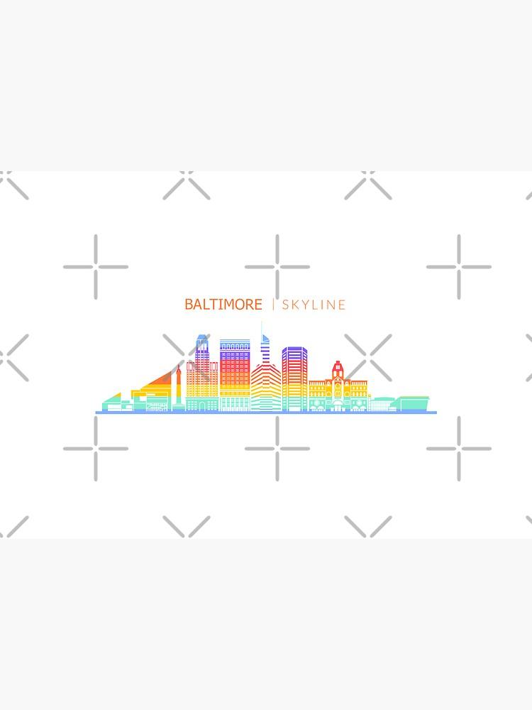 Baltimore City Skyline Travel by DuxDesign