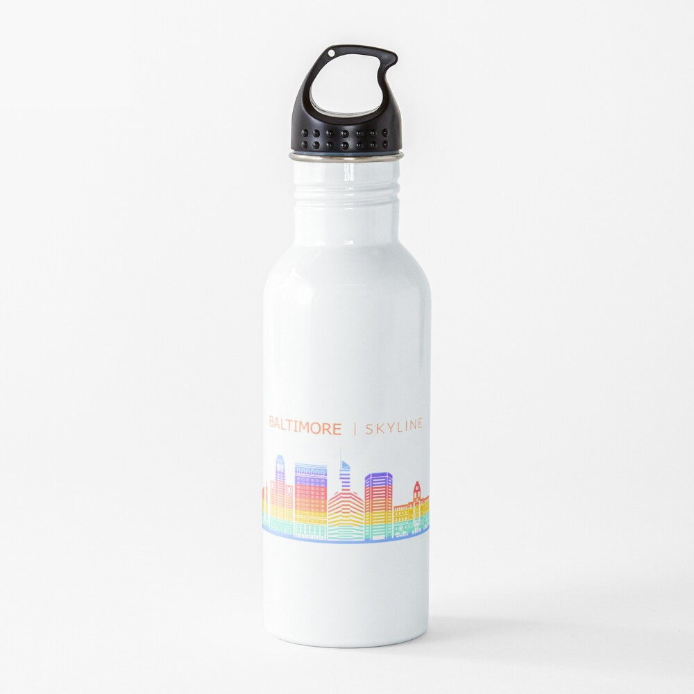 Baltimore City Skyline Travel Water Bottle