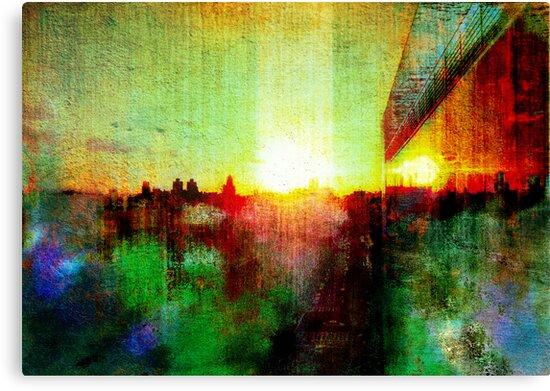 Sunset on East Harlem  by David North