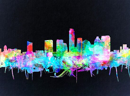 Austin skyline watercolor 2 by BekimART