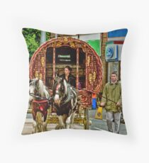 Arriving in Appleby Throw Pillow