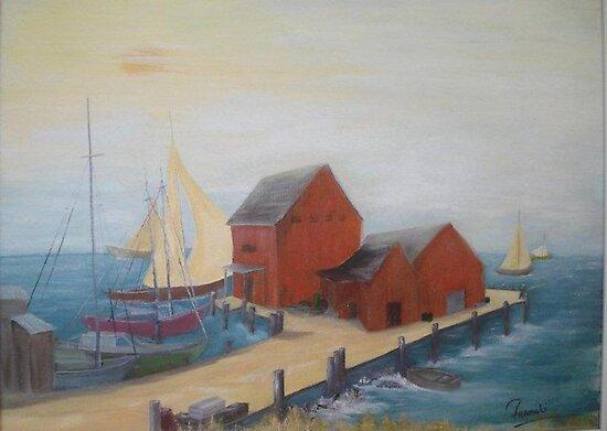 Wharf  by Phyllis Frameli