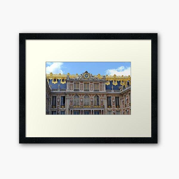 The Clock at Versailles Framed Art Print