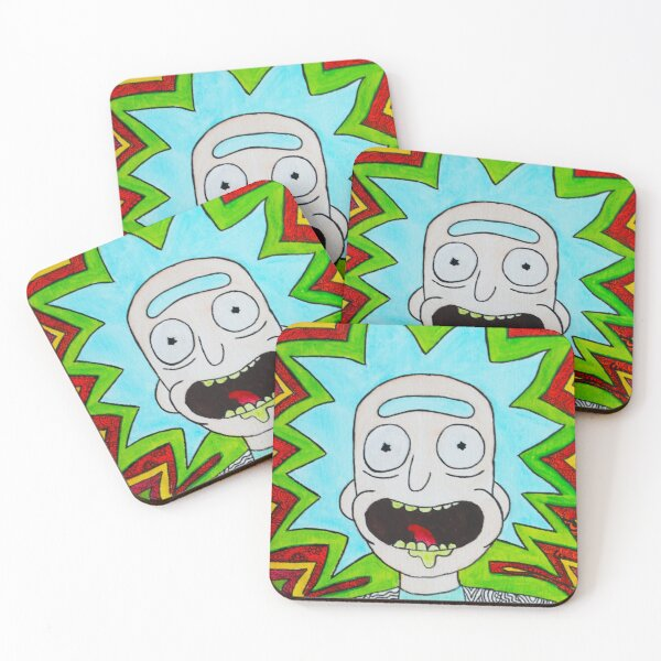 Rick And Morty - Trippy Rick Coasters (Set of 4)